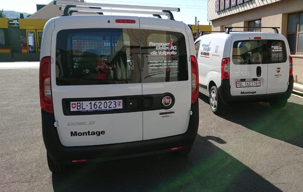 Ablieferung Fiat Ducato und Fiat Doblo