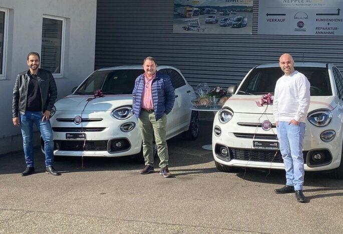 Ablieferung der Fiat 500 X Sport